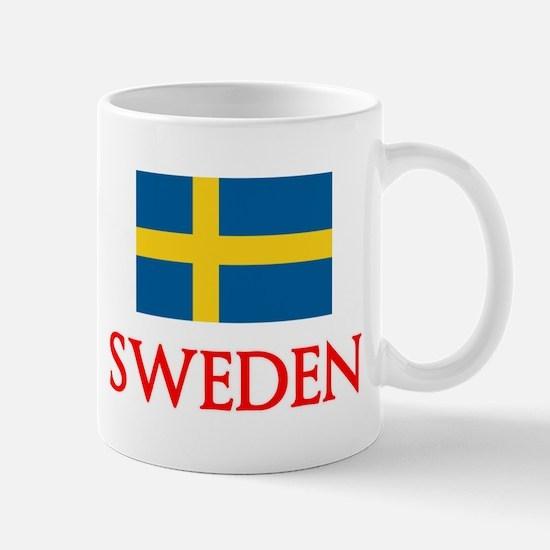Sweden Flag Design Mugs
