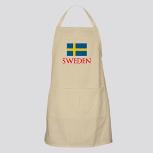 Sweden Flag Design Light Apron