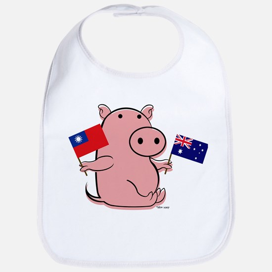 AUSTRALIA AND TAIWAN Bib