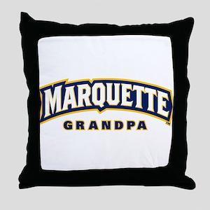 Marquette Golden Eagles Grandpa Throw Pillow
