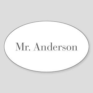 Mr Anderson-bod gray Sticker