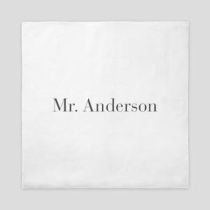Mr Anderson-bod gray Queen Duvet