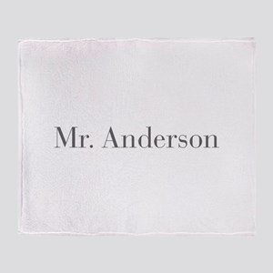 Mr Anderson-bod gray Throw Blanket