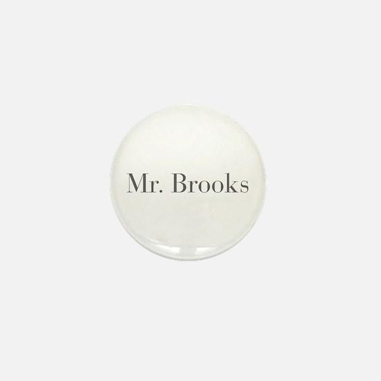 Mr Brooks-bod gray Mini Button