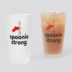 spoonie strong Drinking Glass