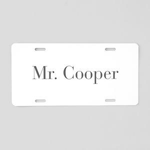 Mr Cooper-bod gray Aluminum License Plate