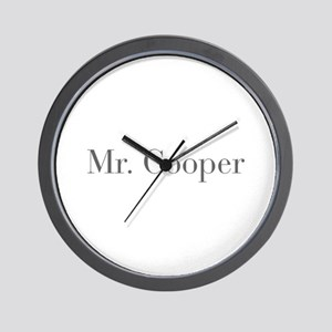 Mr Cooper-bod gray Wall Clock
