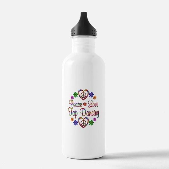 Peace Love Tap Dancing Water Bottle