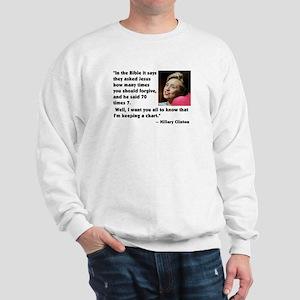 Clinton on Forgiveness Sweatshirt