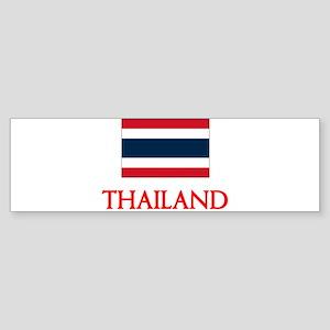 Thailand Flag Design Bumper Sticker