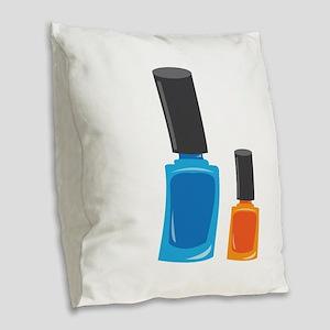 Nail Polishes Burlap Throw Pillow