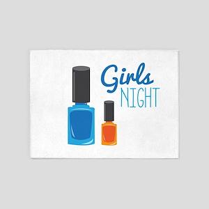 Girls Night 5'x7'Area Rug