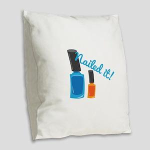 Nailed It Burlap Throw Pillow