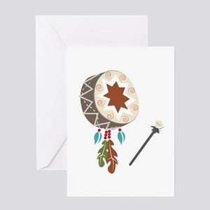Native Drum Greeting Cards