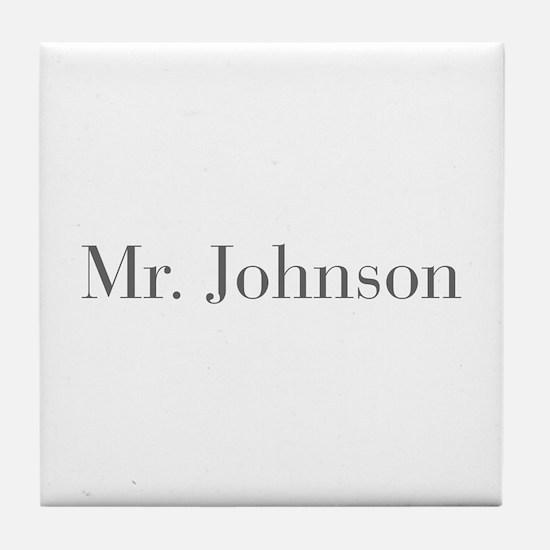 Mr Johnson-bod gray Tile Coaster