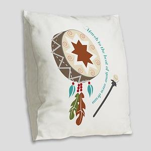 Your Own Drum Burlap Throw Pillow