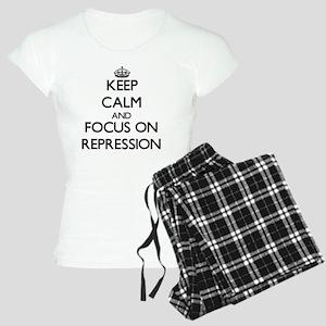 Keep Calm and focus on Repr Women's Light Pajamas