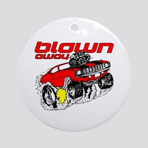 Blown Away Muscle Car Ornament (Round)