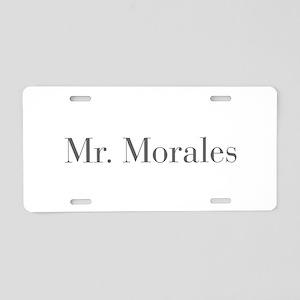Mr Morales-bod gray Aluminum License Plate