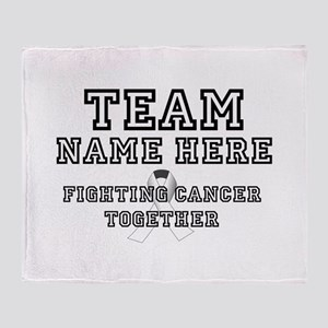 Personalize Team Throw Blanket