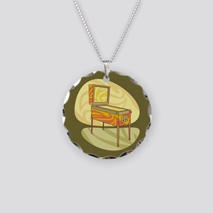 Pinball Necklace Circle Charm