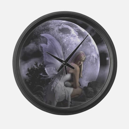 Fairy Moon Light Large Wall Clock