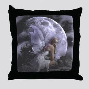 Fairy Moon Light Throw Pillow