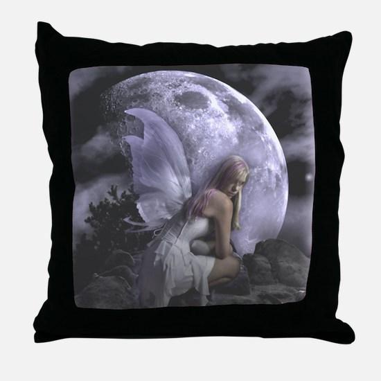 Fairy Moon Light Throw Pillow
