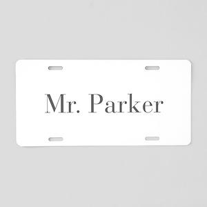 Mr Parker-bod gray Aluminum License Plate