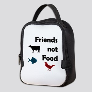Friends Not Food Neoprene Lunch Bag