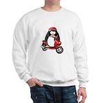 Red Scooter Penguin Sweatshirt