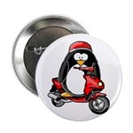 Red Scooter Penguin Button