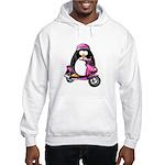Pink Scooter Penguin Hooded Sweatshirt