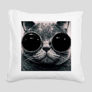 glasses Square Canvas Pillow