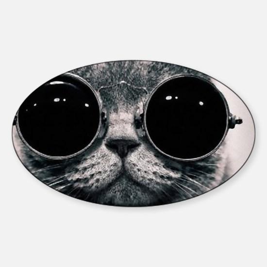 glasses Sticker (Oval)