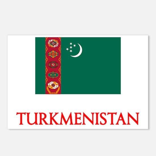 Turkmenistan Flag Design Postcards (Package of 8)