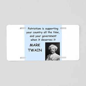 Mark Twain Quote Aluminum License Plate
