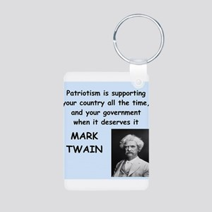 Mark Twain Quote Aluminum Photo Keychain