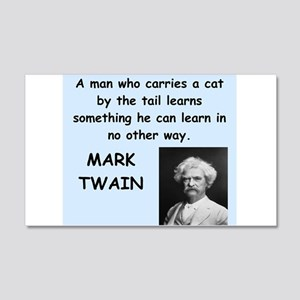 Mark Twain Quote 20x12 Wall Decal