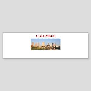columbus Sticker (Bumper)