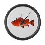 Cow Cod Large Wall Clock