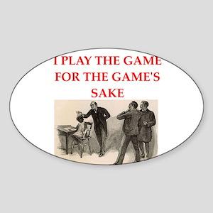 sherlock holmes quote Sticker (Oval)