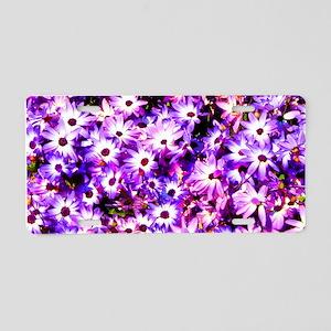 Purple Aluminum License Plate