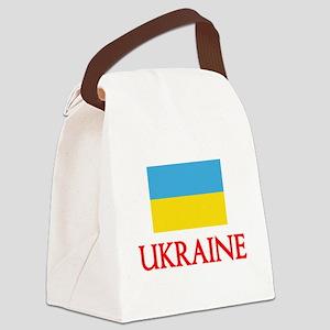 Ukraine Flag Design Canvas Lunch Bag