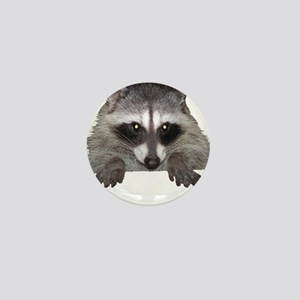 Raccoon and Tracks Mini Button