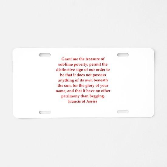 fa13 Aluminum License Plate