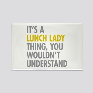 Lunch Lady Thing Rectangle Magnet