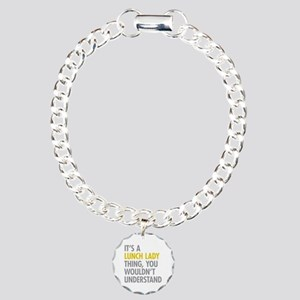 Lunch Lady Thing Charm Bracelet, One Charm