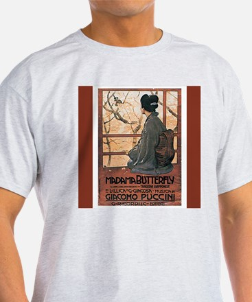 Madame Butterfly Vintage Print T-Shirt