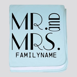 Personalized Mr. Mrs. baby blanket